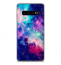 Coque en silicone Samsung Galaxy S10 - Galaxie Bleue