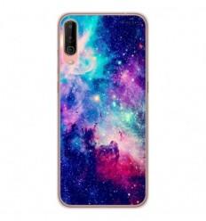Coque en silicone Wiko View 4 - Galaxie Bleue
