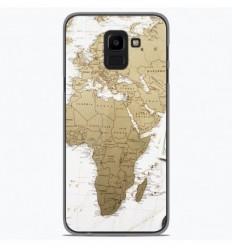 Coque en silicone Samsung Galaxy J6 2018 - Map Europe Afrique