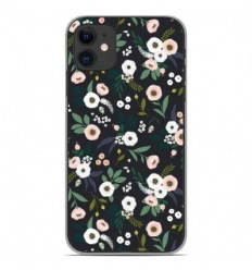 Coque en silicone Apple iPhone 11 - Flowers Noir