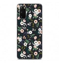 Coque en silicone Samsung Galaxy S20 - Flowers Noir