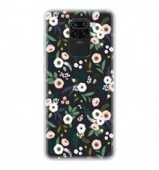 Coque en silicone Xiaomi Redmi Note 9 - Flowers Noir
