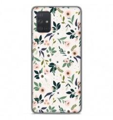 Coque en silicone Samsung Galaxy A71 - Flowers