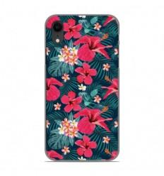 Coque en silicone Apple iPhone XR - Hibiscus Fuchsia