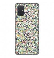 Coque en silicone Samsung Galaxy A71 - Liberty Wiltshire Vert