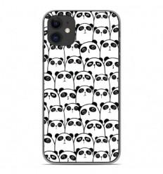 Coque en silicone Apple iPhone 11 - Réunion de Pandas