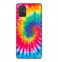 Coque en silicone Samsung Galaxy A51 - Tie Dye Spirale