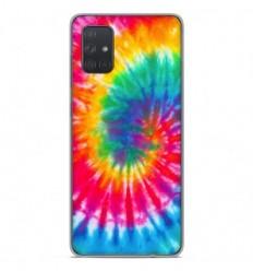 Coque en silicone Samsung Galaxy A71 - Tie Dye Spirale