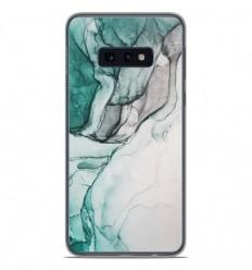 Coque en silicone Samsung Galaxy S10e - Zoom sur Pierre Vert