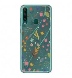 Coque en silicone Huawei Y6P - Fleurs colorées