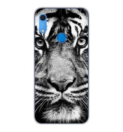 Coque en silicone Huawei Y6S - Tigre blanc et noir