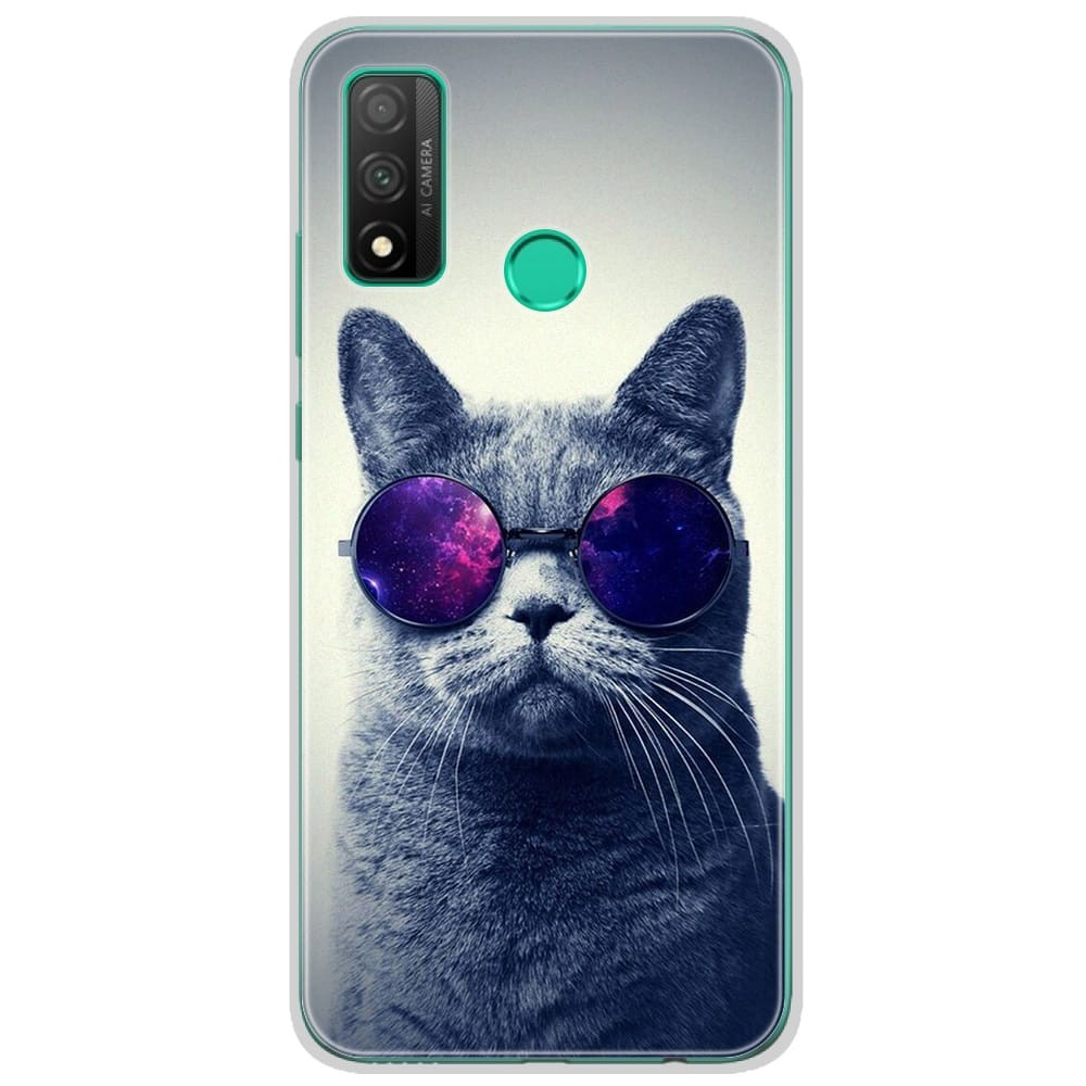 Coque en silicone Huawei P Smart 2020 - Chat à lunette