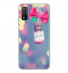 Coque en silicone Huawei P Smart 2020 - Love noeud rose