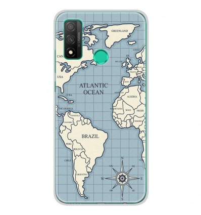 Coque en silicone Huawei P Smart 2020 - Map vintage