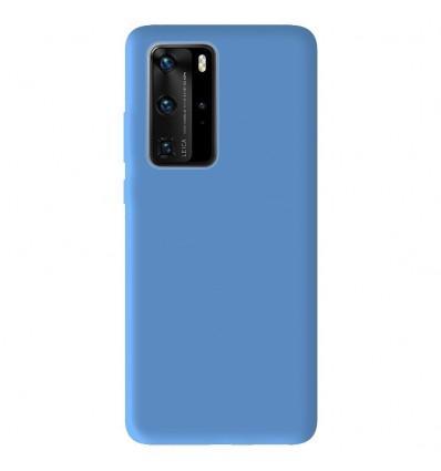 Coque Huawei P40 Pro Silicone Gel mat - Bleu Mat