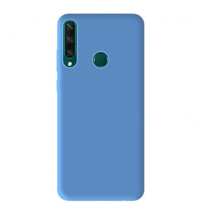Coque Huawei Y6P Silicone Gel mat - Bleu Mat