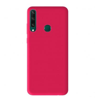 Coque Huawei Y6P Silicone Gel mat - Rose Mat