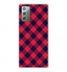 Coque en silicone Samsung Galaxy Note 20 - Tartan Rouge