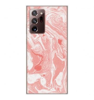 Coque en silicone Samsung Galaxy Note 20 Ultra - Marbre Rose