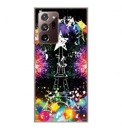 Coque en silicone Samsung Galaxy Note 20 Ultra - Tour Eiffel