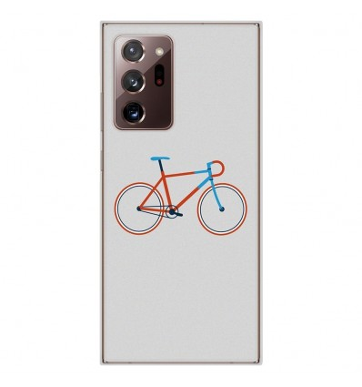 Coque en silicone Samsung Galaxy Note 20 Ultra - Bike color Hipster