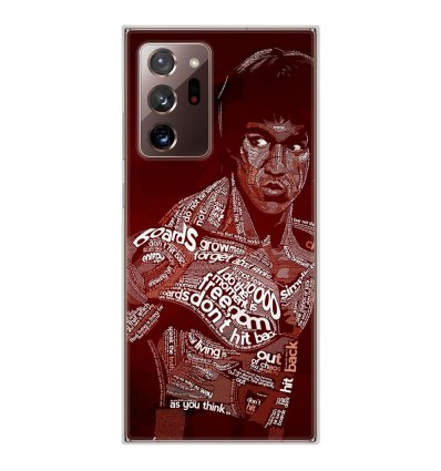 Coque en silicone Samsung Galaxy Note 20 Ultra - Bruce lee