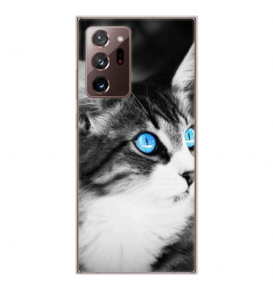 Coque en silicone Samsung Galaxy Note 20 Ultra - Chat yeux bleu
