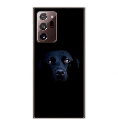 Coque en silicone Samsung Galaxy Note 20 Ultra - Chien noir