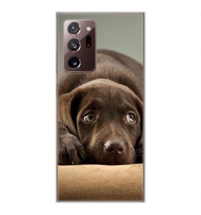 Coque en silicone Samsung Galaxy Note 20 Ultra - Chiot marron