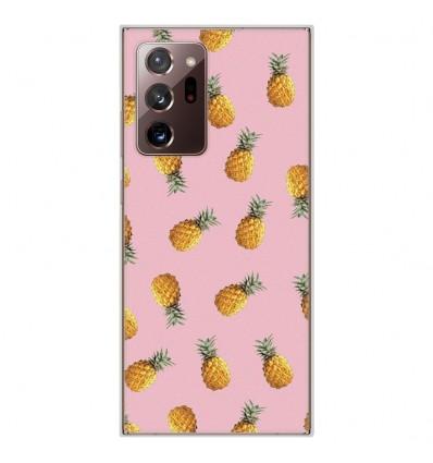 Coque en silicone Samsung Galaxy Note 20 Ultra - Pluie d'ananas