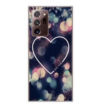 Coque en silicone Samsung Galaxy Note 20 Ultra - Coeur Love