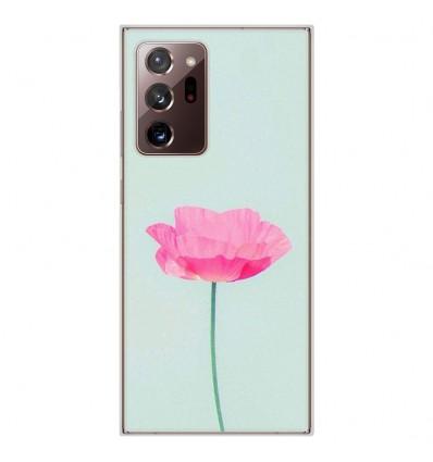 Coque en silicone pour Samsung Galaxy Note 20 Ultra - Fleur Rose