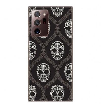 Coque en silicone Samsung Galaxy Note 20 Ultra - Floral skull