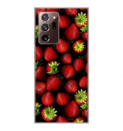 Coque en silicone Samsung Galaxy Note 20 Ultra - Fraises
