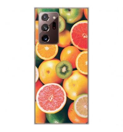 Coque en silicone pour Samsung Galaxy Note 20 Ultra - Fruits