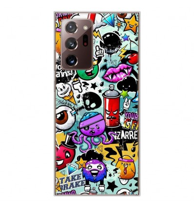 Coque en silicone Samsung Galaxy Note 20 Ultra - Graffiti 2
