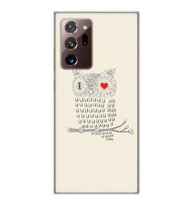 Coque en silicone Samsung Galaxy Note 20 Ultra - I Love Hiboux