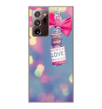 Coque en silicone Samsung Galaxy Note 20 Ultra - Love noeud rose