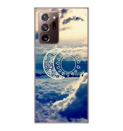 Coque en silicone pour Samsung Galaxy Note 20 Ultra - Lune soleil