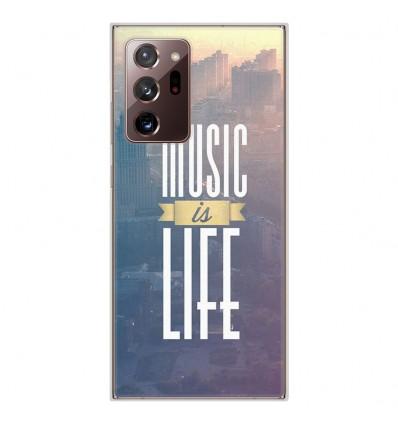 Coque en silicone Samsung Galaxy Note 20 Ultra - Music is life