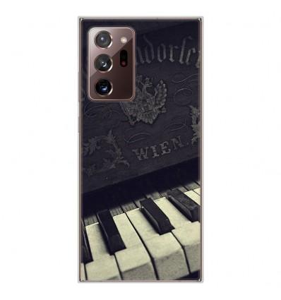 Coque en silicone Samsung Galaxy Note 20 Ultra - Old piano