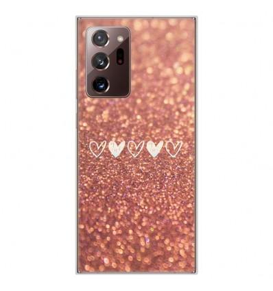 Coque en silicone Samsung Galaxy Note 20 Ultra - Paillettes coeur