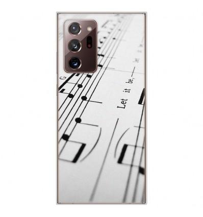 Coque en silicone Samsung Galaxy Note 20 Ultra - Partition de musique
