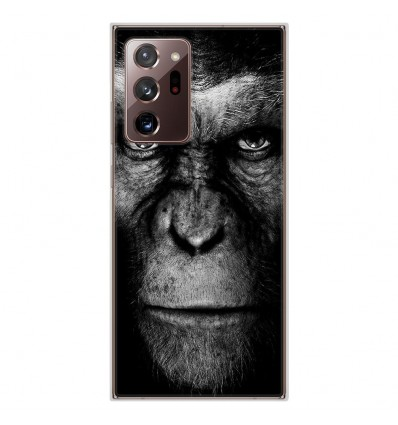 Coque en silicone pour Samsung Galaxy Note 20 Ultra - Singe