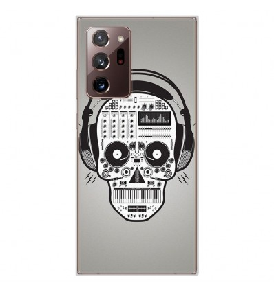 Coque en silicone pour Samsung Galaxy Note 20 Ultra - Skull Music