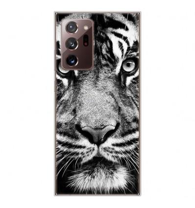 Coque en silicone Samsung Galaxy Note 20 Ultra - Tigre blanc et noir