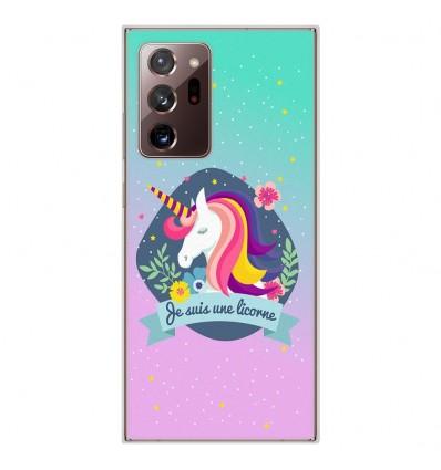 Coque en silicone Samsung Galaxy Note 20 Ultra - Je suis une licorne