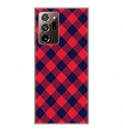 Coque en silicone Samsung Galaxy Note 20 Ultra - Tartan Rouge
