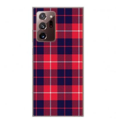 Coque en silicone pour Samsung Galaxy Note 20 Ultra - Tartan Rouge 2