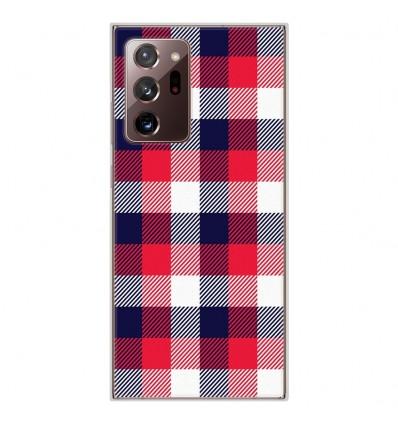 Coque en silicone Samsung Galaxy Note 20 Ultra - Tartan Tricolor